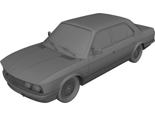 BMW 5-series E28 (1985) 3D Model 3D Preview