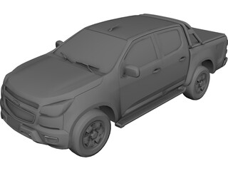 Chevrolet S-10 Pickup (2014) 3D Model 3D Preview