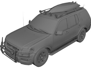 Ford Explorer (2010) 3D Model 3D Preview