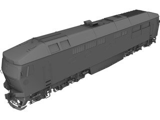 Diesel Locomotive TEP70 3D Model