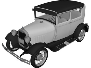 Ford Model A (1929) 3D Model 3D Preview