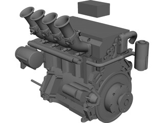 Elan DP02 Mazda MZR Engine CAD 3D Model