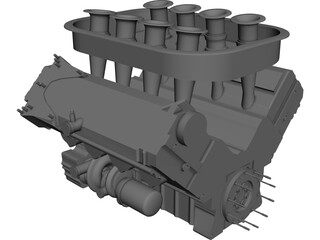 Mugen Eengine LMP1 Series CAD 3D Model