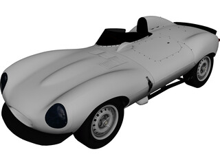 Jaguar D-Type (1956) 3D Model