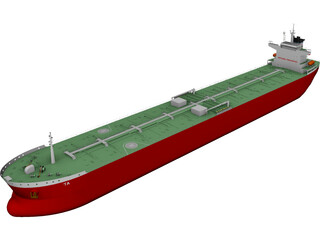Panamax Oil Tanker 3D Model