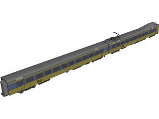 Dutch Train 3D Model