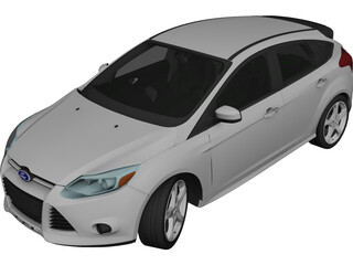 Ford Focus (2014) 3D Model