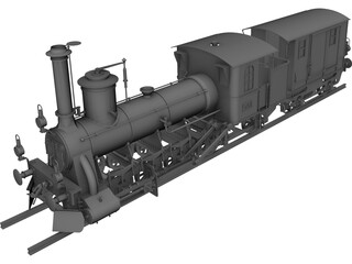 Train Locomotive 3D Model