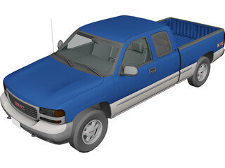 GMC Sierra Extended Cab (1999) 3D Model 3D Preview