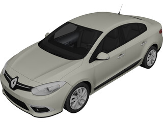 Renault Fluence (2013) 3D Model