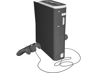 XBox 360 Game Console 3D Model