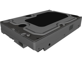 WD Caviar Black HDD CAD 3D Model