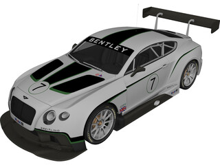 Bentley Continental GT3 (2014) 3D Model