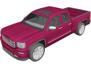 GMC Sierra Pickup (2016) 3D Model