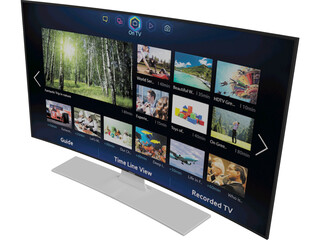Samsung TV Curved 3D Model