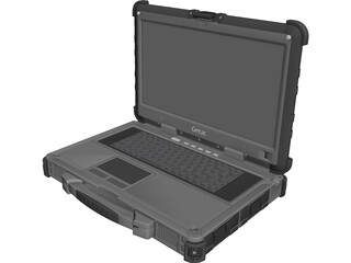 Getac X500 Laptop 3D Model