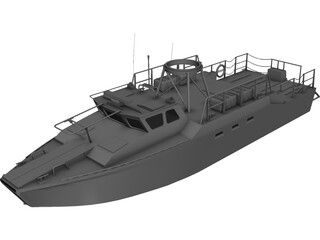 Navy Coastal Patrol Boat 3D Model