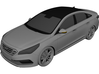 Hyundai Sonata (2016) 3D Model