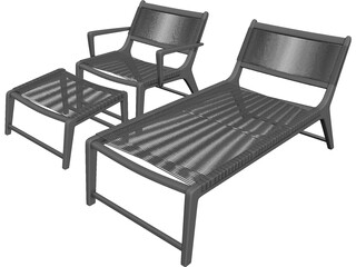 Oceans Lounge Chair 3D Model