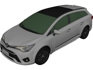Toyota Avensis Wagon (2017) 3D Model