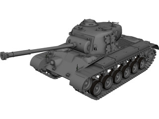 M26 Pershing Heavy Tank 3D Model