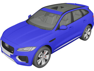 Jaguar F-Pace S (2017) 3D Model 3D Preview