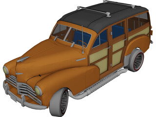 Chevrolet Woody (1947) 3D Model 3D Preview