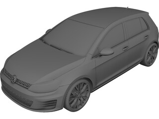 Volkswagen Golf GTI (2010) 3D Model