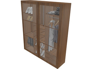 Closet with Furniture 3D Model
