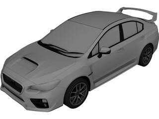Subaru WRX STI Type S (2015) 3D Model