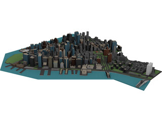 New York Lower Manhattan 3D Model