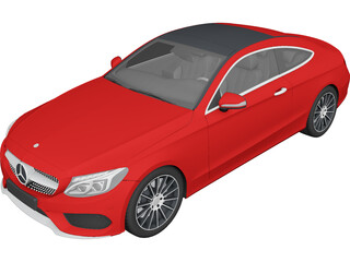 Mercedes-Benz C-Class Coupe (2017) 3D Model