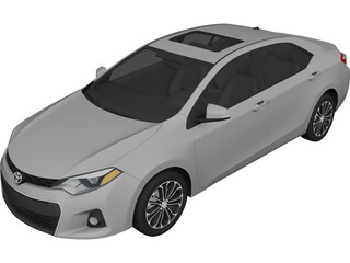 Toyota Corolla S (2014) 3D Model 3D Preview