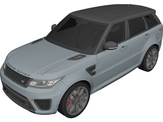 Land Rover Range Rover Sport SVR 3D Model 3D Preview