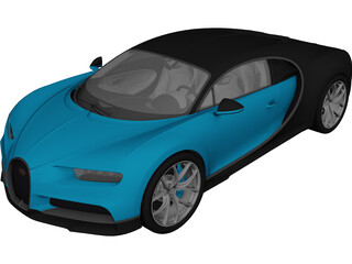 Bugatti Chiron (2017) 3D Model 3D Preview