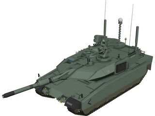 Altay Tank 3D Model 3D Preview