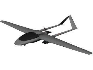 Bayraktar TB2 Tactical UAV 3D Model