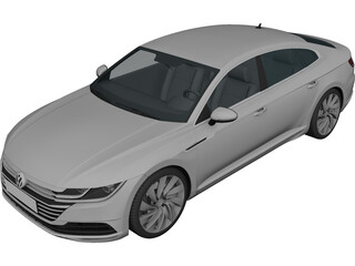 Volkswagen Arteon (2018) 3D Model 3D Preview