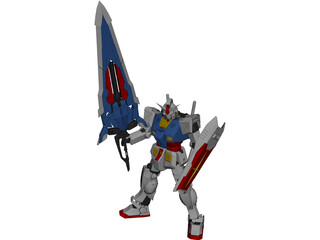 RX-78 Gundam Mobile Suit 3D Model