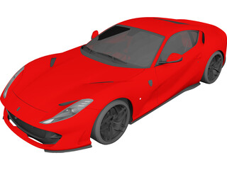 Ferrari 812 Superfast (2015) 3D Model