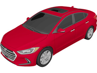Hyundai Elantra Limited (2017) 3D Model