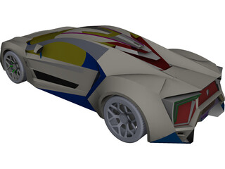 Lykan Hypersport CAD 3D Model