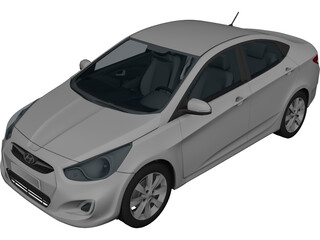 Hyundai Accent (2009) 3D Model