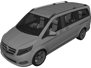Mercedes-Benz V250 Bluetec 3D Model