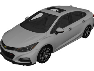 Chevrolet Cruze RS (2018) 3D Model 3D Preview