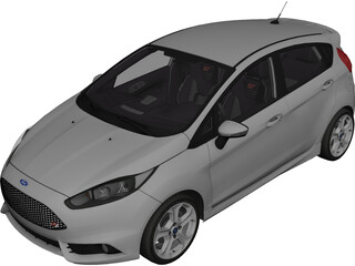 Ford Fiesta ST (2016) 3D Model