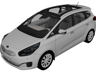 Kia Carens (2013) 3D Model