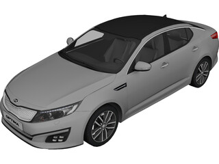 Kia Optima (2014) 3D Model 3D Preview