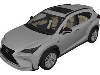 Lexus NX200t F-Sport (2015) 3D Model 3D Preview