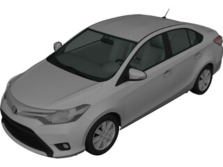 Toyota Yaris Sedan (2015) 3D Model